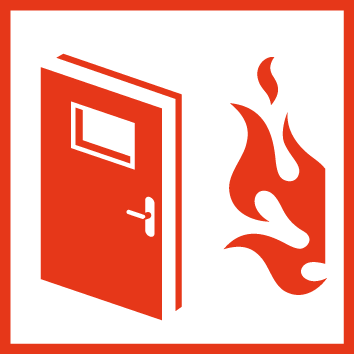 Icon: flame outside of a door
